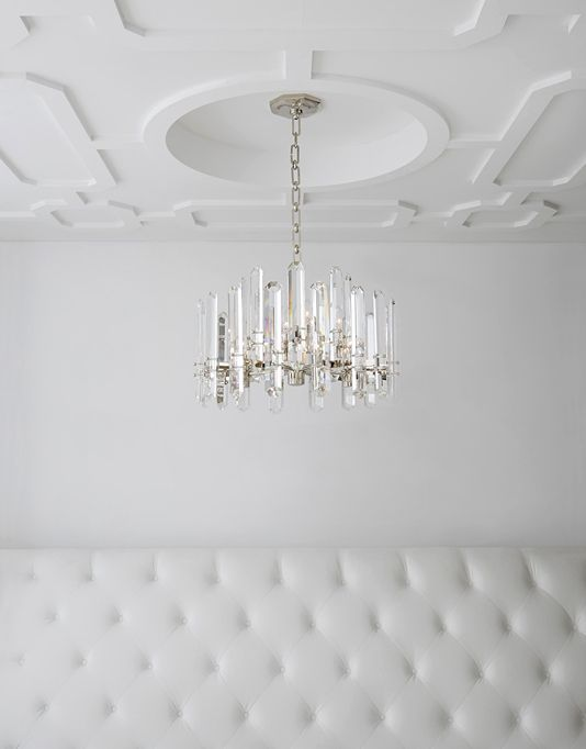 Bonnington Chandelier By Aerin Arn5124 Available In Two Finishes With Crystal