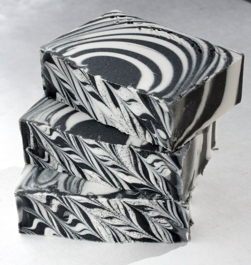 Zebra Bar Licorice Mint One Handmade Cold Process Soap With Shea Butter 4 to 5 Ounce Body Bar. $5.49, via Etsy.