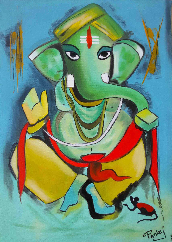 Modern Art Paintings Easy Lord ganesha paintings