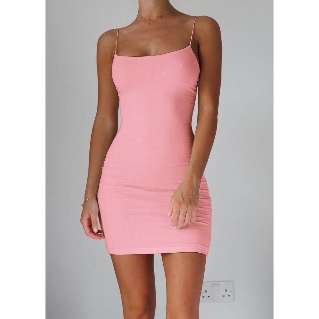 42263739550 Womens Spaghetti Strap Mini Dress Women New Fashion Sleeveless Casual Slip  Dress