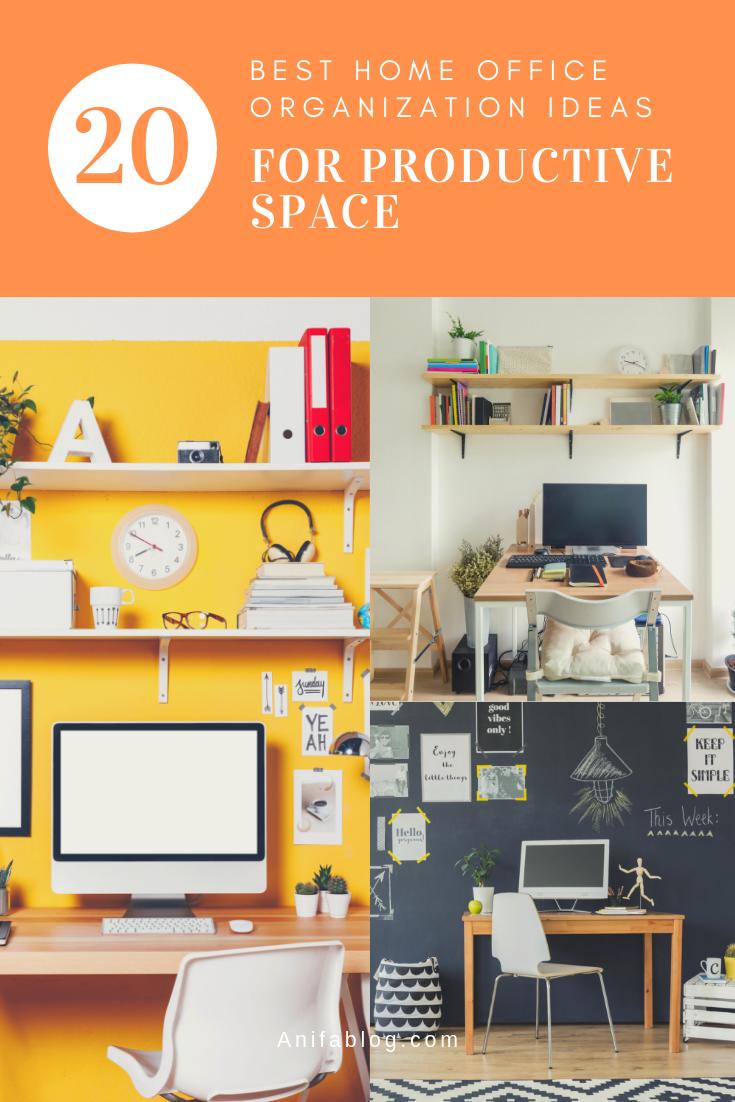 20 Best Home Office Organization Design Ideas Home Office Organization Office Organization Small Home Offices