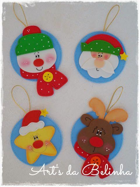 Pin de Lizy en Navidad Pinterest Navidad, Adornos y Goma eva - manualidades para navidad