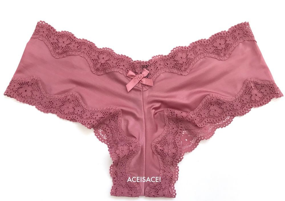 5240c49c7a NWT Victoria s Secret SEXY SILKY FLORAL LACE CHEEKY PANTY---SUGAR  PINK--XS XP  VictoriasSecret  VERYSEXYCHEEKY  Glamour