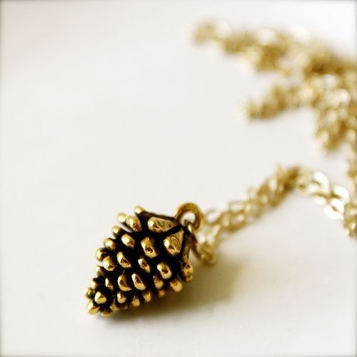 pinecone necklace - really love this...