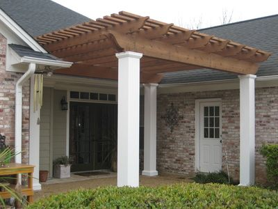Pergola Arbor Gazebo Pergola Concrete Patio Backyard