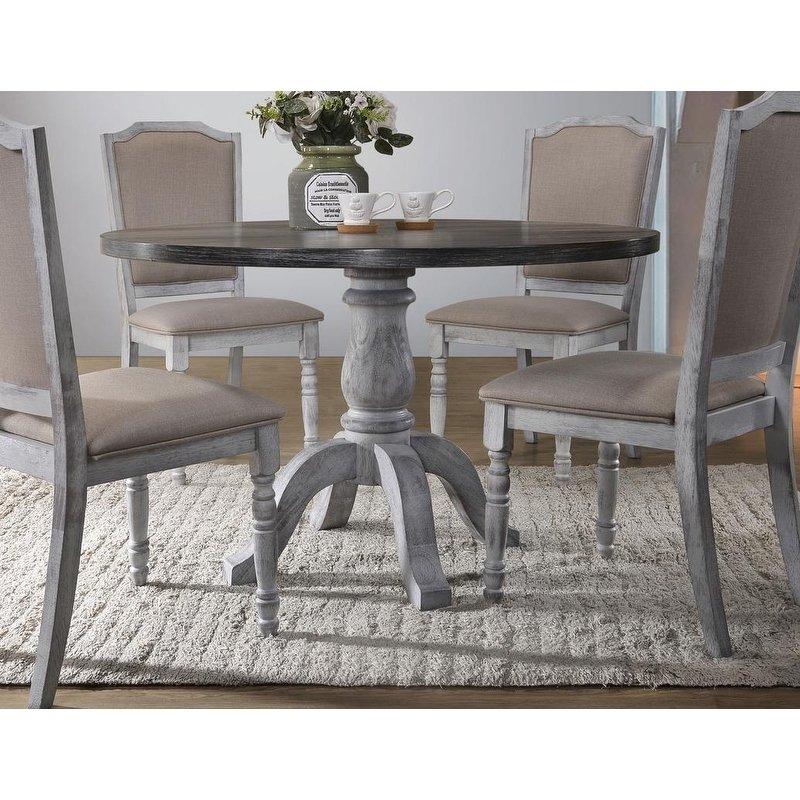 Best Master Furniture Weathered Gray White Round Dining Table Products In 2019 White Round Dining Table Round Dining Table Dining Table