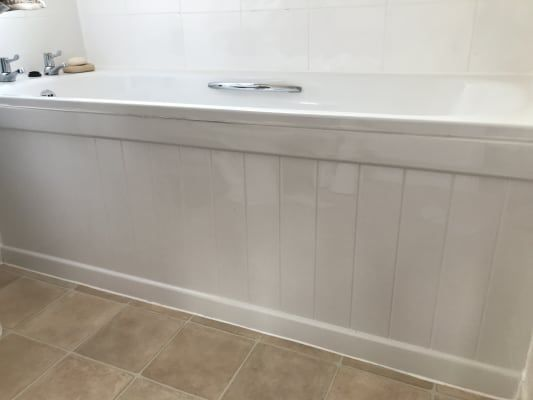 1700 x 520mm  wickescouk  white bath panel bath front