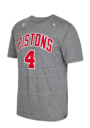 new product bcc41 02532 Joe Dumars Detroit Pistons Mens Grey Distressed Fashion Player Tee