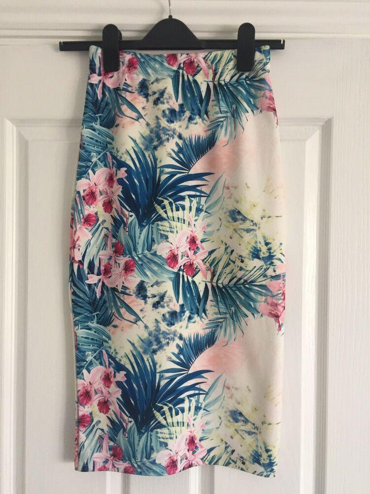 2b43bbb923 Summer Floral Midi Skirt Uk Size 8 - Matalan #fashion #clothing #shoes #