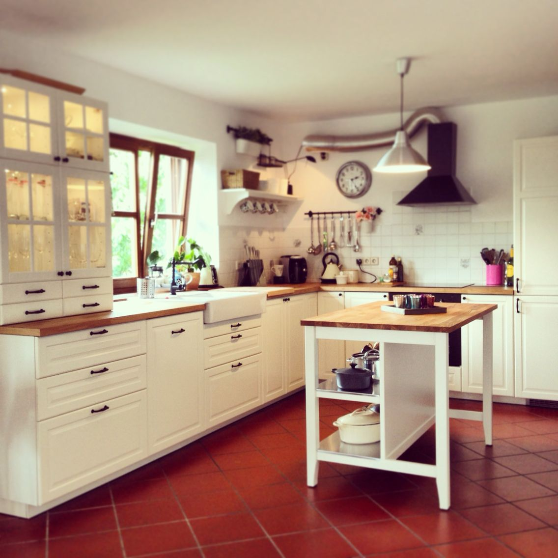 Traditional shaker style kitchen, ikea, BODBYN | Ideas for the House ...