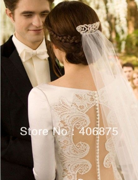 Bridal Wedding Crown Veil Pageant Twilight Tiara Made with ...