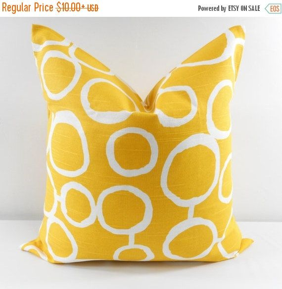 SALE PILLOW Yellow Pillow cover Yellow by TwistedBobbinDesigns