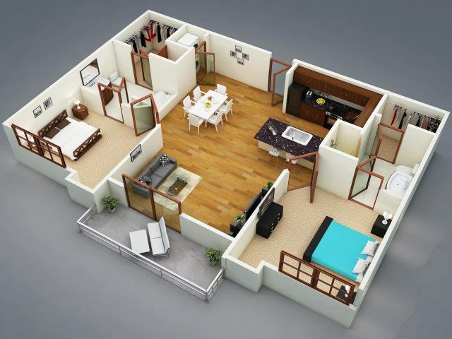 The Cleveland 2 Bed 2 Bath Apartment In Greenville Sc 400 Rhett Com Imagens Plantas De Casas Casas Casas Novas
