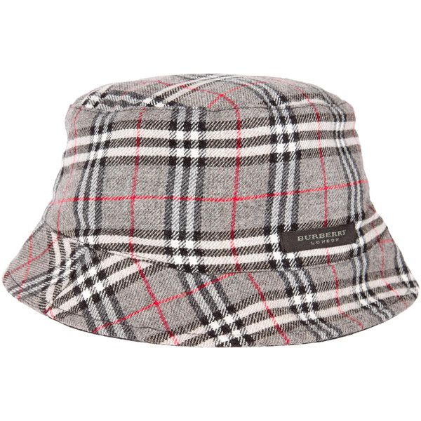 Pre-owned Burberry Reversible Bucket Hat ( 95) ❤ liked on Polyvore  featuring accessories d4a035c9013