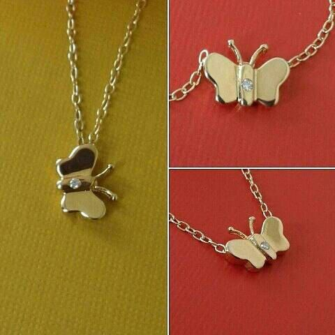 Mira este artículo en mi tienda de Etsy: https://www.etsy.com/es/listing/273540328/14kt-solid-gold-mini-butterfly-charm-14