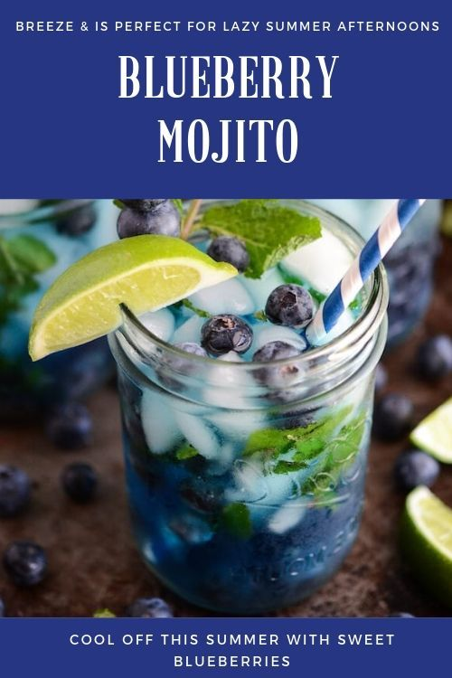 Blueberry Mojito, Drink recipes, Drink nonalcoholic, Drink alcoholic, Drink for kids, summer Drink, coffee Drink, Party Drink, Healthy Drink, Fall Dri...- -#Drinks #nonalcoholicsummerdrinks