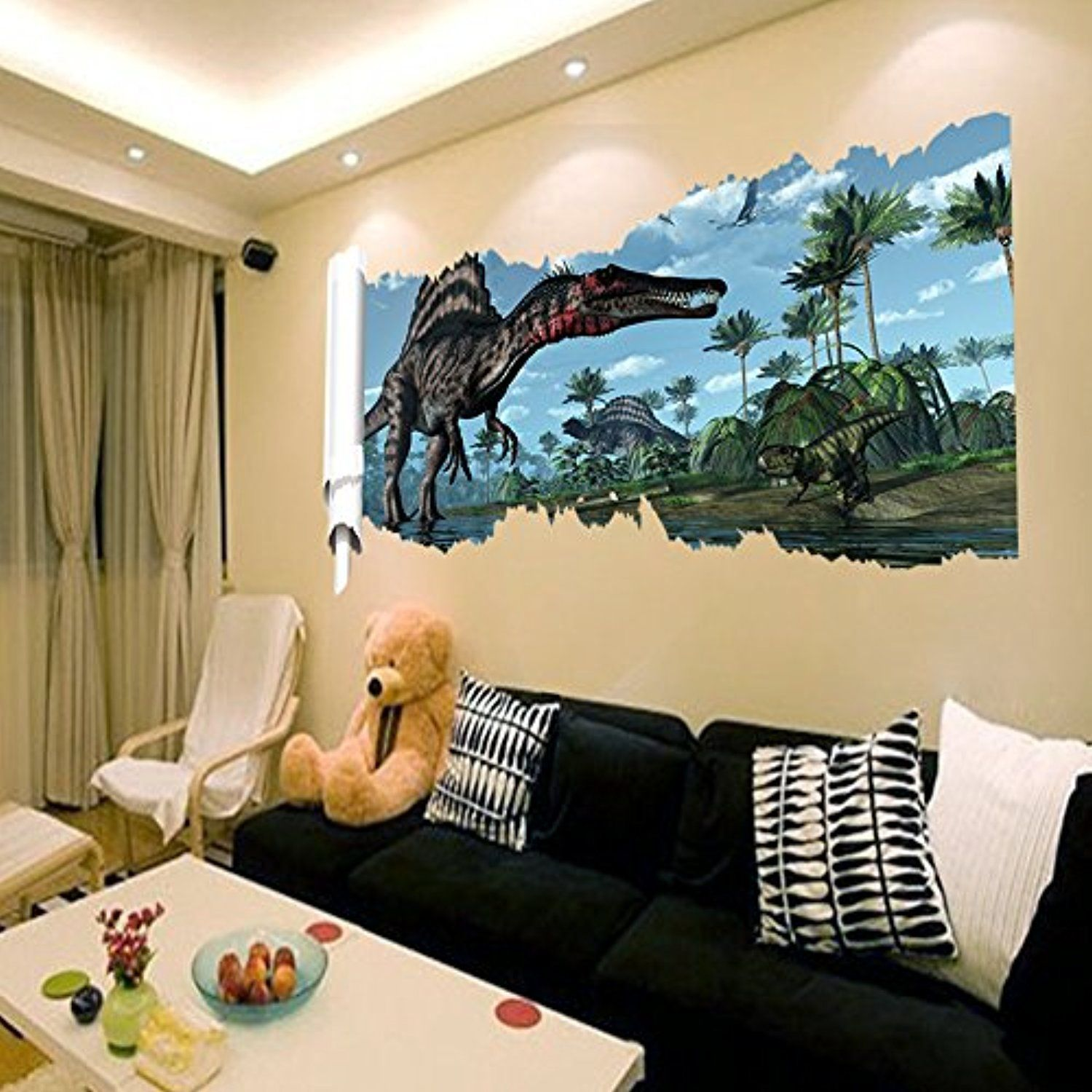 3D Dinosaur World Wall Stickers Removable Vinyl Wall Decor Decals ...