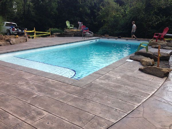 Stamped Concrete Wood Plank Wood Pool Deck Concrete Pool Stamped Concrete Patio