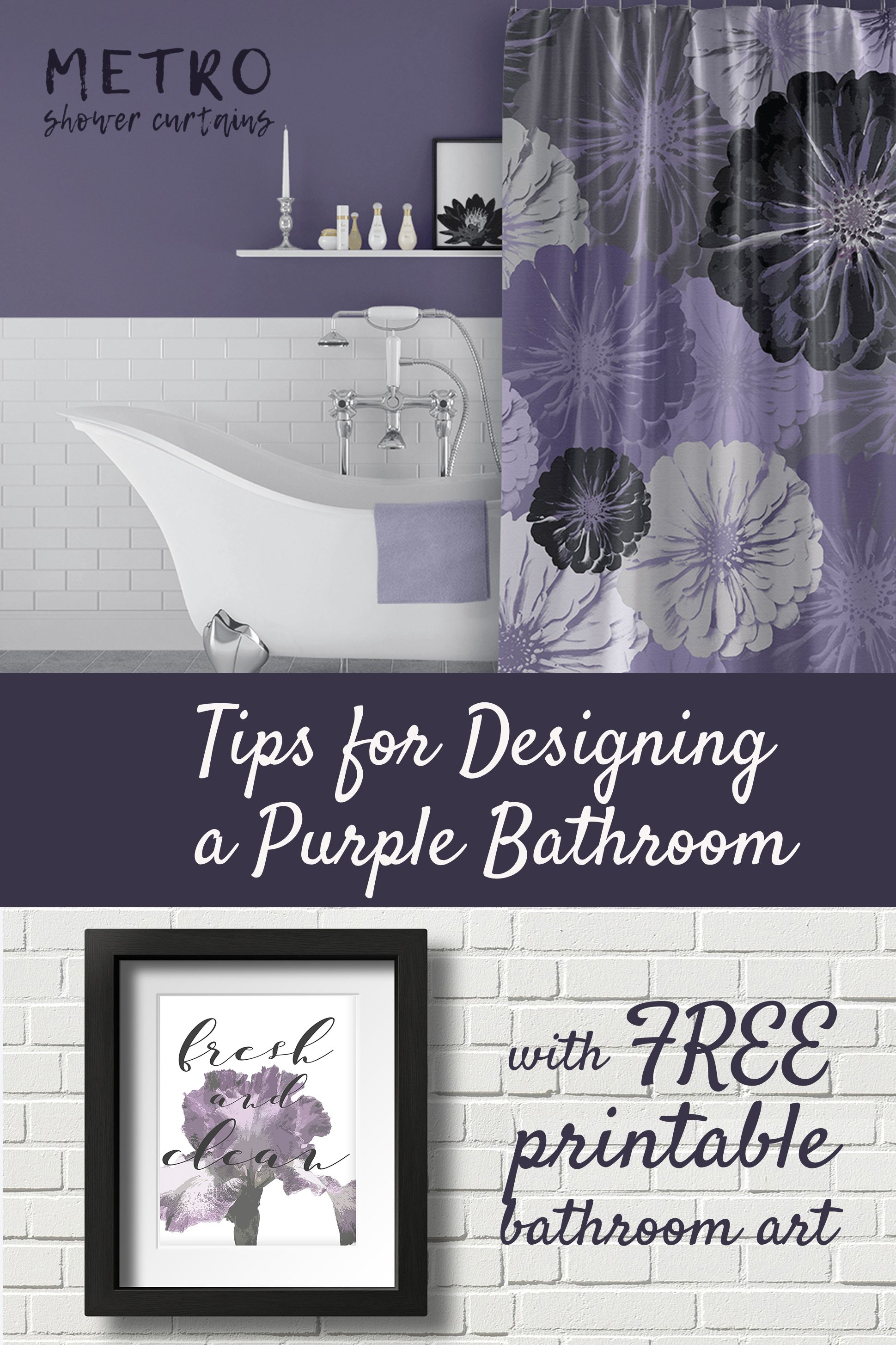 Pin On Purple Bathroom Decor