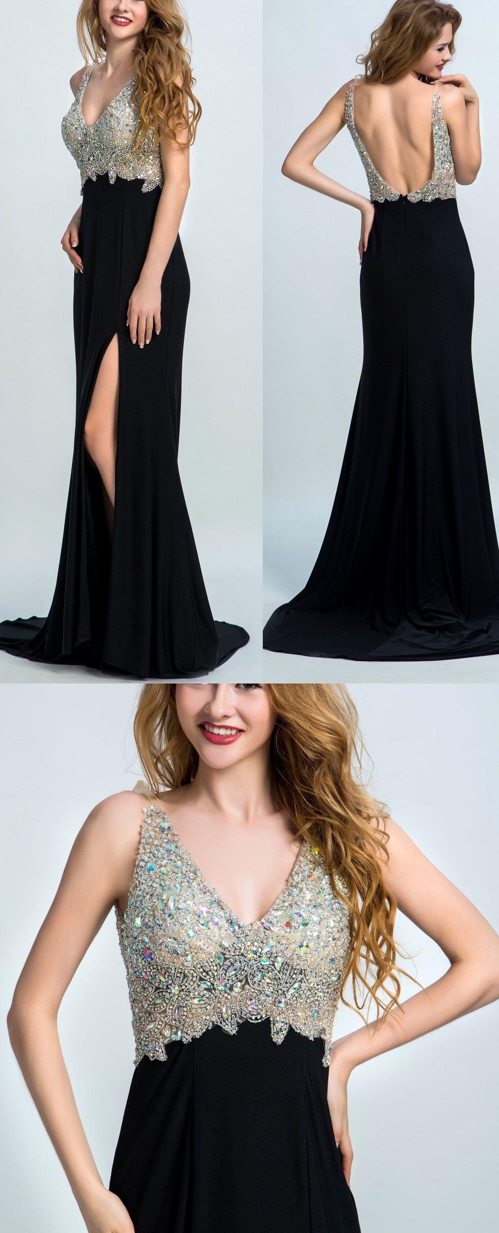 Black Prom Dresses Long Evening Dresses Long Black Prom Dresses