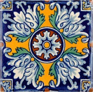 Romanesco Flower Terra Nova Hacienda Ceramic Tile Art De Tuile En Ceramique Ceramiques Peintes A La Main Peindre Des Carreaux