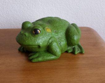 Ceramic Frogs Garden Frog Decor Garden By BearTracksTradingCo
