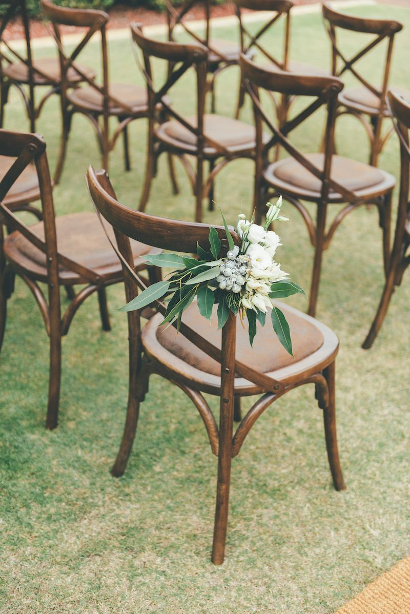 Dark timber cross back chairs for hire in perth surrounds western australia