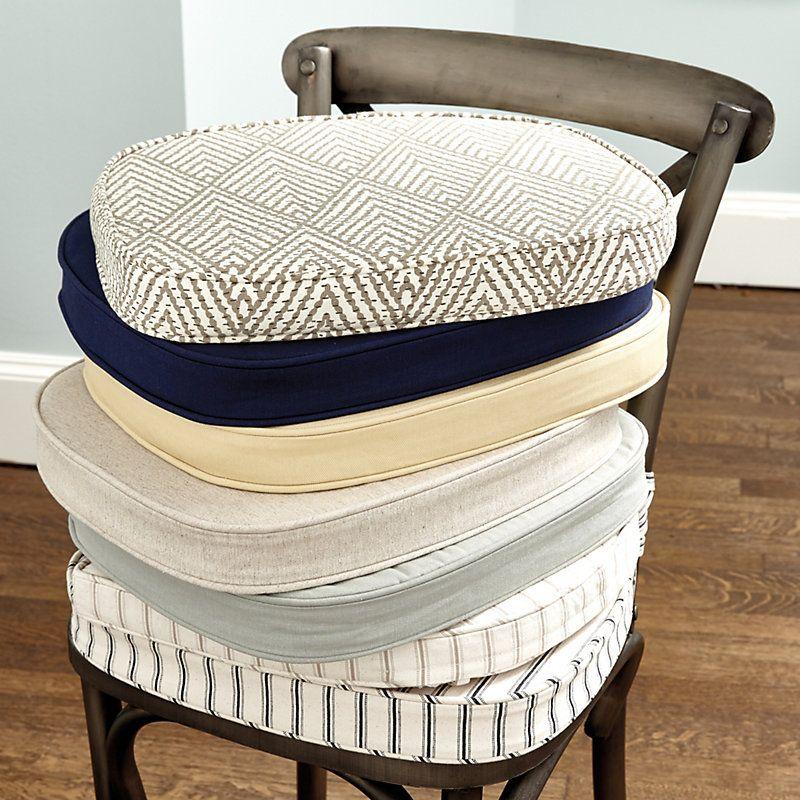 Constance chair cushion natural linen ballard designs