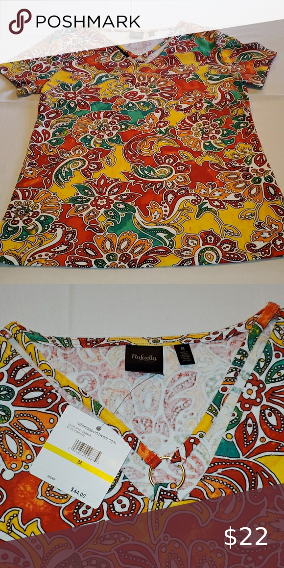 Rafaella multicolored top