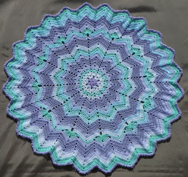 Round Ripple Blankee Afghans Round Ripple 24 Points Crochet