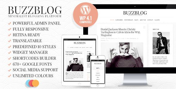 BuzzBlog - Clean and Personal WordPress Blog Theme | Wordpress blog ...