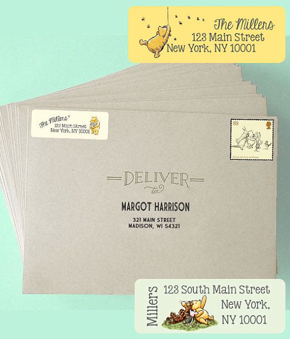 These classic pooh return address labels used for baby shower these classic pooh return address labels used for baby shower invitations and thank you cards put altavistaventures Choice Image