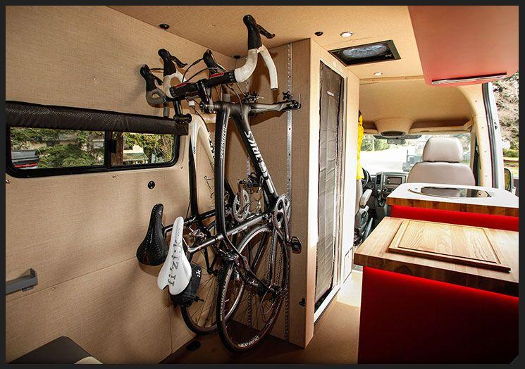 Nice Bike Rack Outside Van Custom Sprinter Avec Images Camion