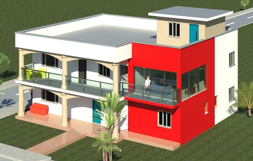 Maison Champs Afrique Plan 7 Pieces 78 M2 Dessine Par Kwaps
