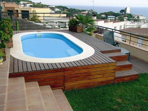 Acuario madera para piscina pinterest acuario for Piscinas superficie precios