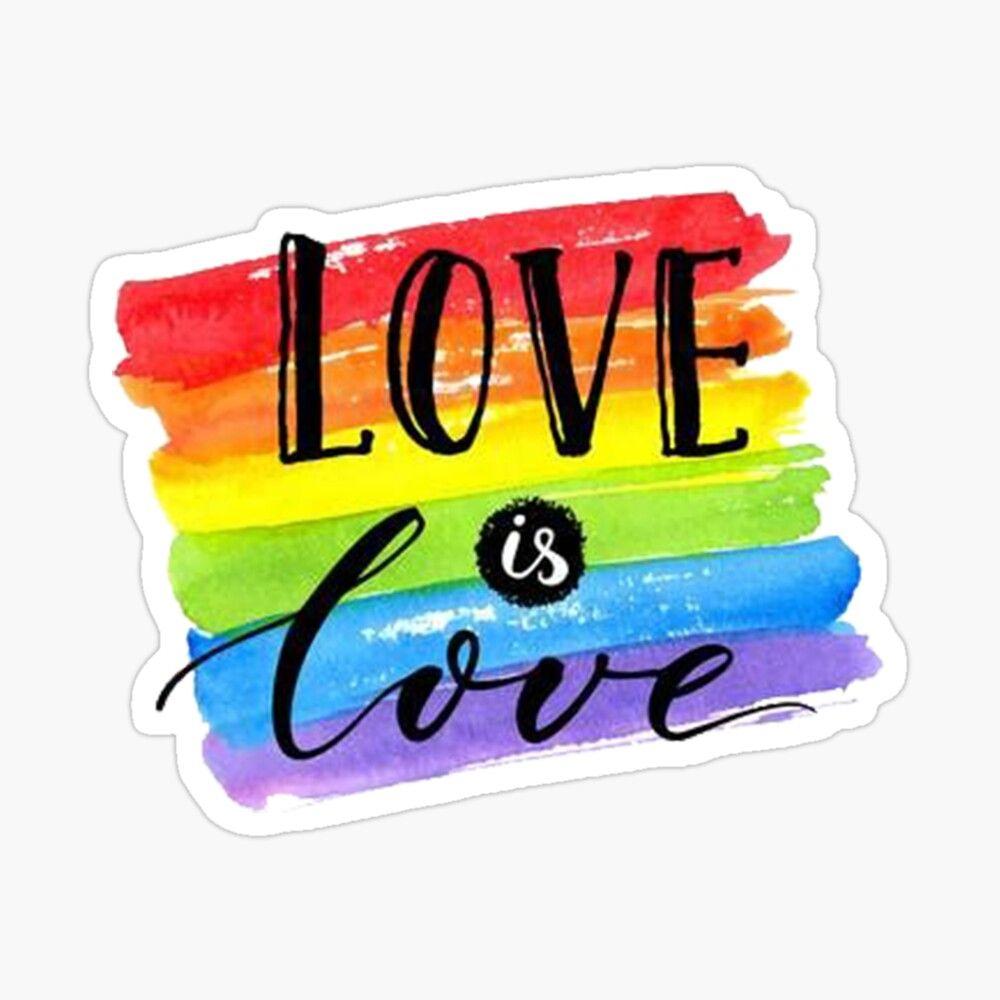 Pegatina brillante 'LOVE IS LOVE' de andreassdf