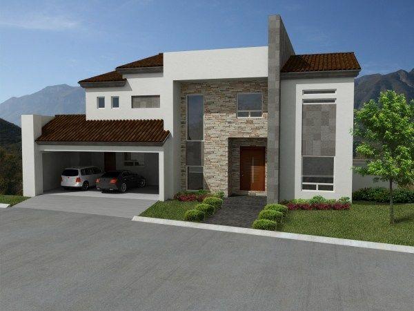 Fachadas de cantera mexico casas minimalistas plano for 30 fachadas de casas modernas dos sonhos