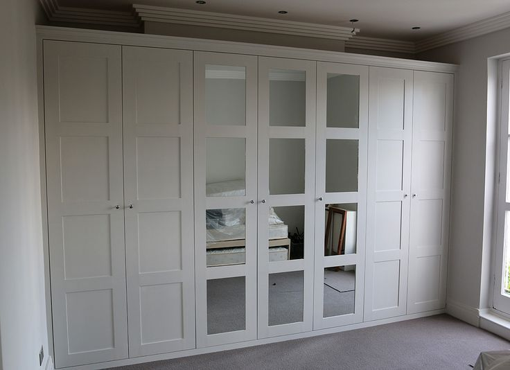 Fitted Wardrobe With Shaker Mirror Doors For Wardrobes In The Loft Room