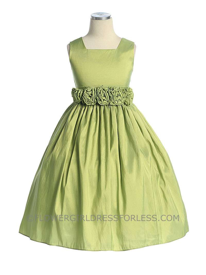Flower Girl Dress Style 3047 Choice Of Color Square Neckline With
