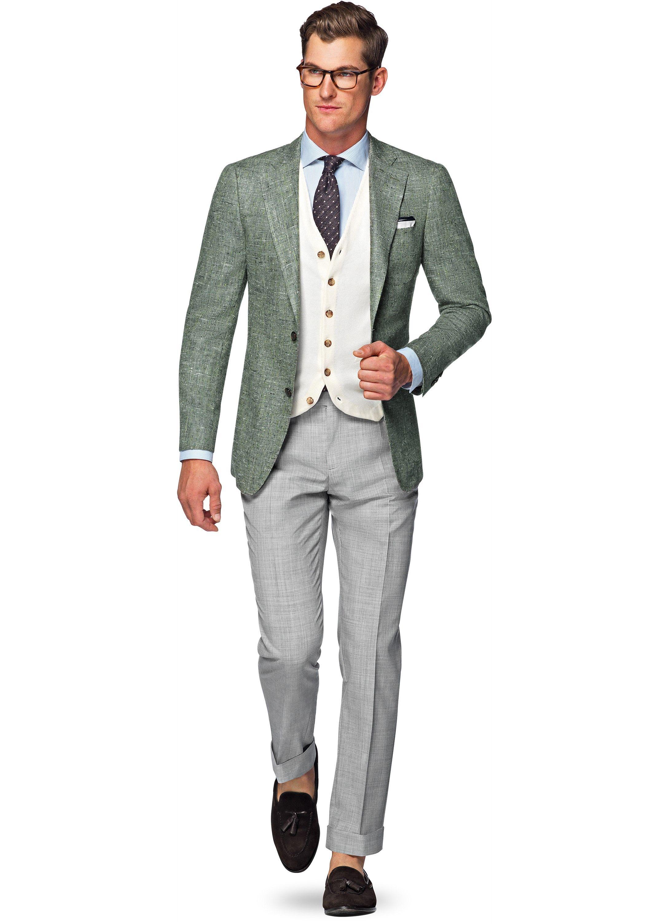 Fonkelnieuw Jacket Green Plain Hudson C944i   Suitsupply Online Store   I OF-29