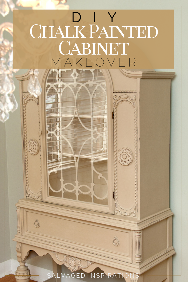 A Small World And A Custom Chalk Painted China Cabinet Painted