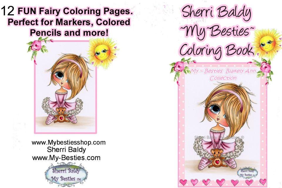 Instant Download Printable Coloring Book 8 1 2 X 11 My Besties