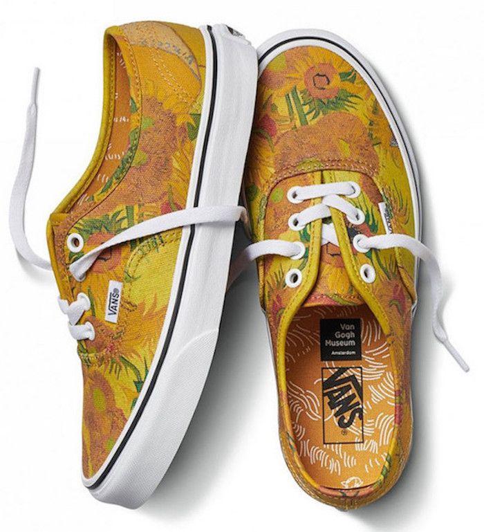 9775684bc0df00 Vans x Van Gogh Museum  Shoes inspired by Vincent Van Gogh s Sunflowers