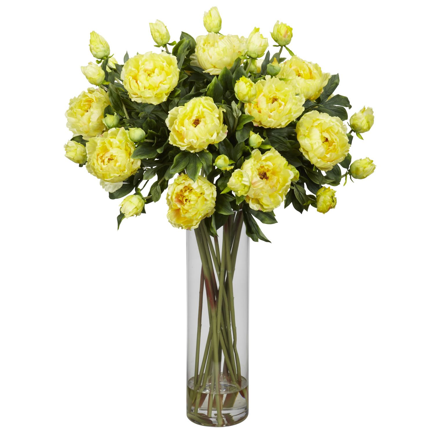 Fake Floral Arrangements For Your Table Centerpiece Yellow Tulip Fake Floral Arrangements With