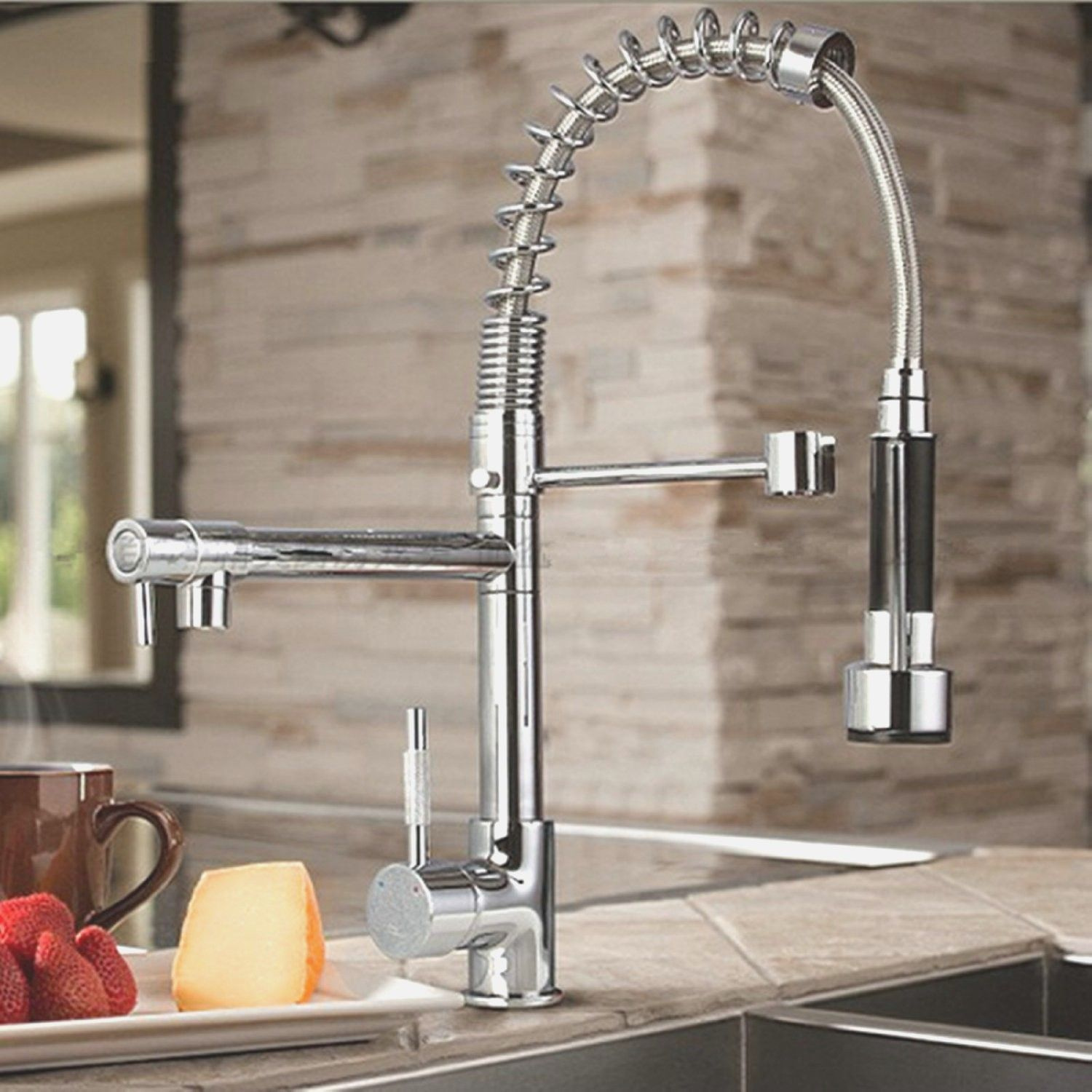 Kitchen Sink Faucet with Sprayer - home depot kitchen sink faucet ...