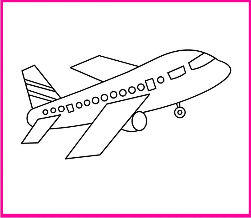 Airplane Color Page Easy See The Category To Find More Printable Coloring Sheets Also You Co Easy Coloring Pages Airplane Coloring Pages Train Coloring Pages