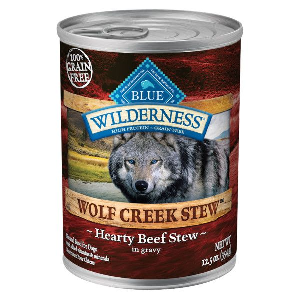 Blue Buffalo Wilderness Wolf Creek Stew Grain Free Beef Adult Dog