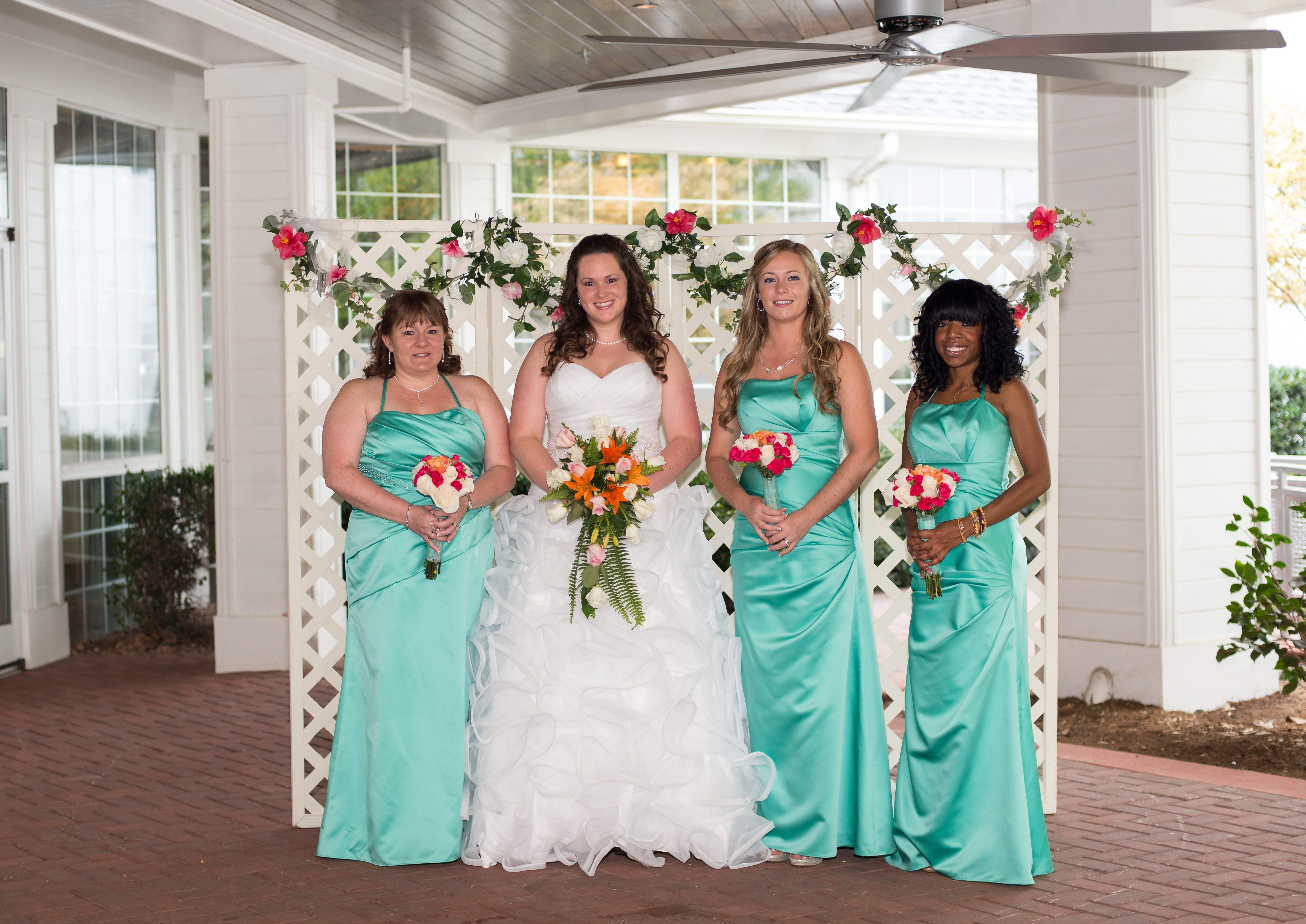 Sea mist color bridesmaid dresses