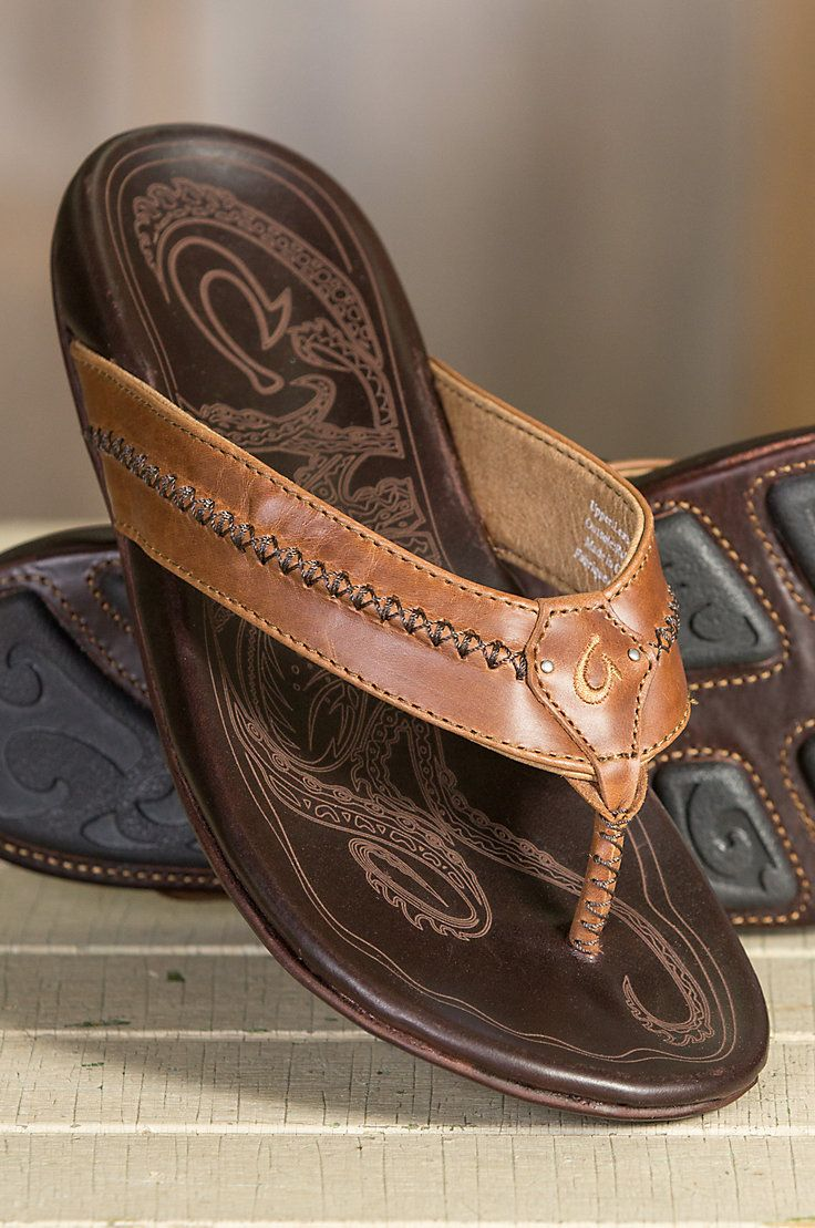 936bac7af3c Men s Olukai Mea Ola Leather Sandals