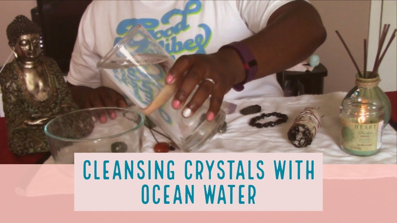 Cleansing crystals with ocean water cleansing crystals